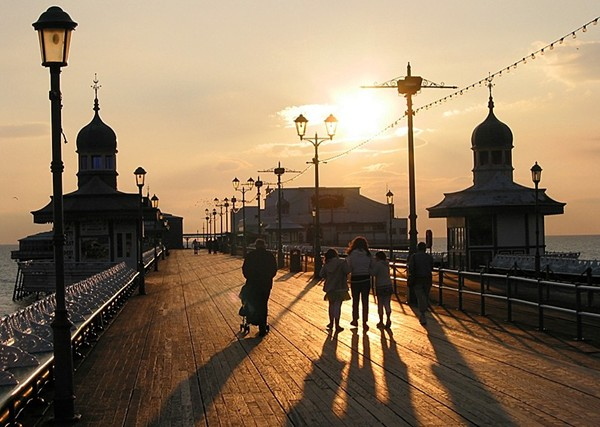 Sonnenuntergang in Blackpool