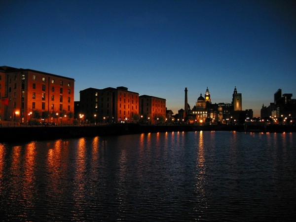 Albert Dock by night