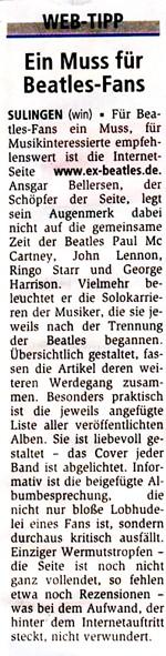 Kreiszeitung Webtipp - Januar 2008