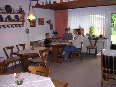 Frühstückpension mit gemütlichen Aufenthaltsraum