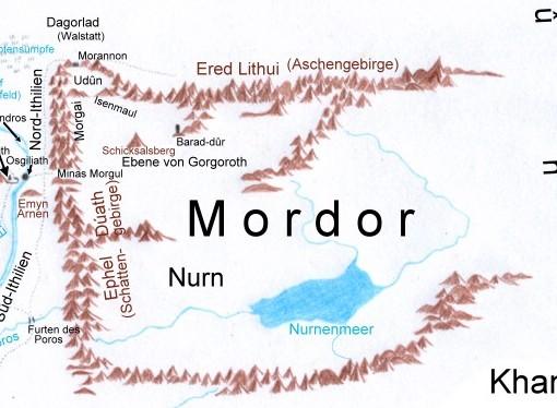 mordor karte Mittelerde (Mordor)