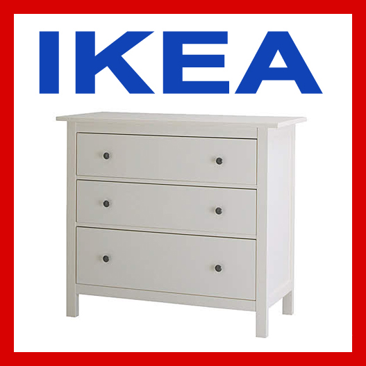 ikea hemnes kommode weiss 3 schubladen ovp nagelneu 200. Black Bedroom Furniture Sets. Home Design Ideas