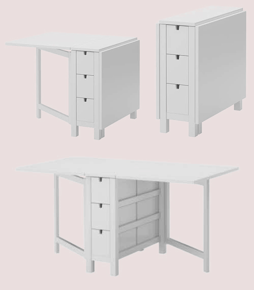 ikea norden klapptisch weiss ovp nagelneu. Black Bedroom Furniture Sets. Home Design Ideas