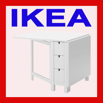 ikea norden klapptisch weiss ovp nagelneu 10116887 ebay. Black Bedroom Furniture Sets. Home Design Ideas
