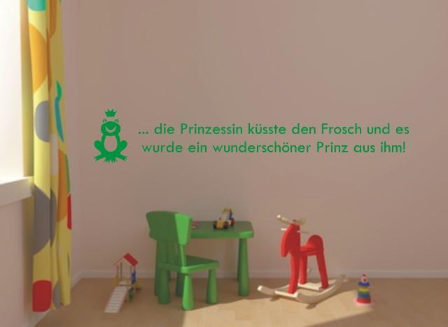 wandtattoo froschk nig m rchen kinder frosch 90x15 cm ebay. Black Bedroom Furniture Sets. Home Design Ideas