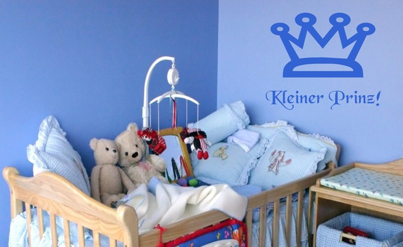 wandtattoo kleiner prinz spruch kinderzimmer 35x30 cm. Black Bedroom Furniture Sets. Home Design Ideas